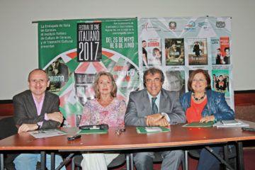 Los gerentes culturales y el embajador de Italia en Caracas,  Solveig Hoogesteijn, Erica Berra, José Pisano y Silvio Mignano