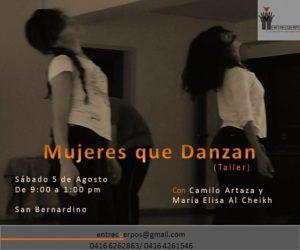 """Próximo encuentro """"Mujeres que Danzan"""""""