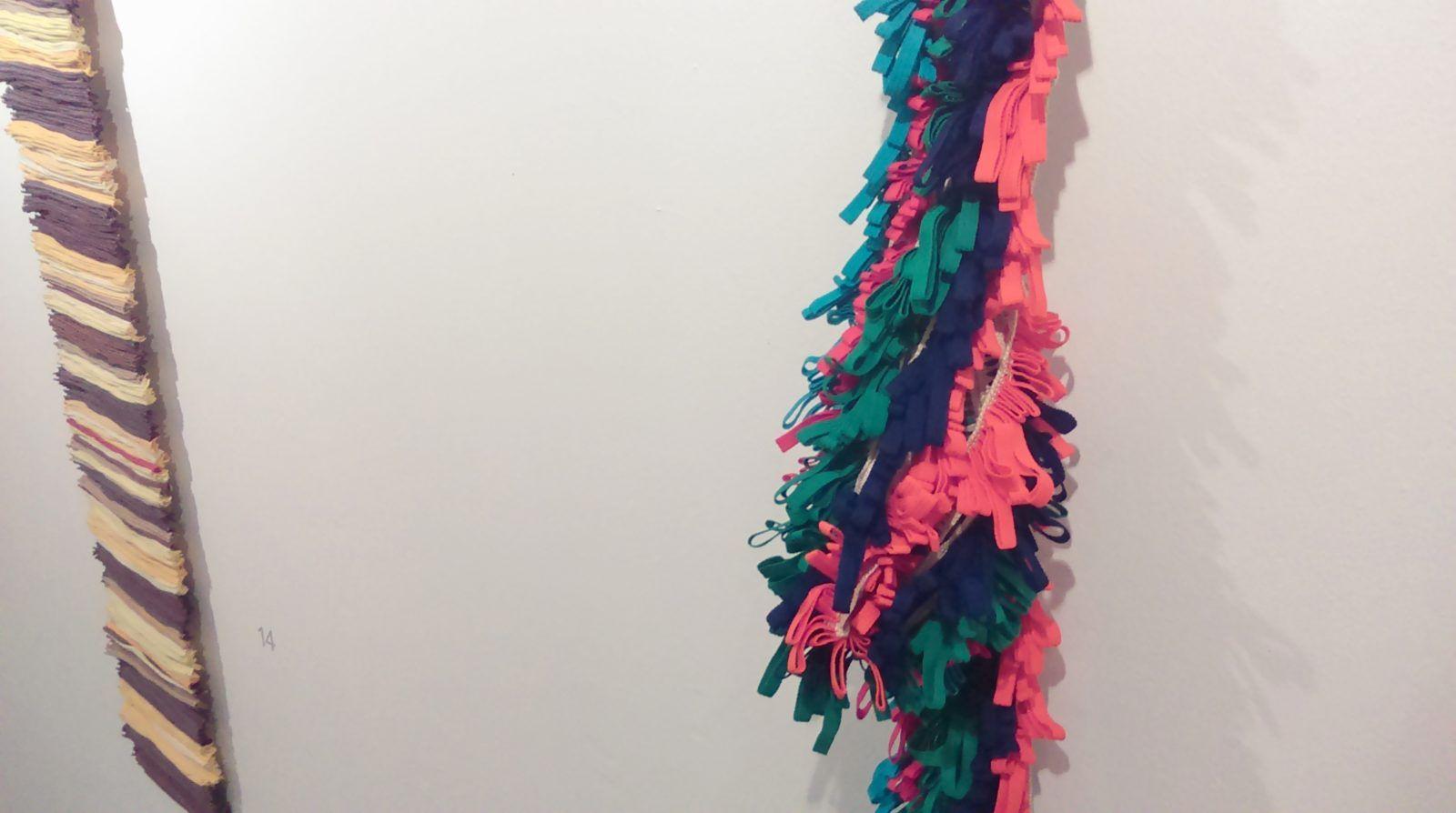 "Detalle de ""Mecha"" (2014) obra de Isabel Cisneros"