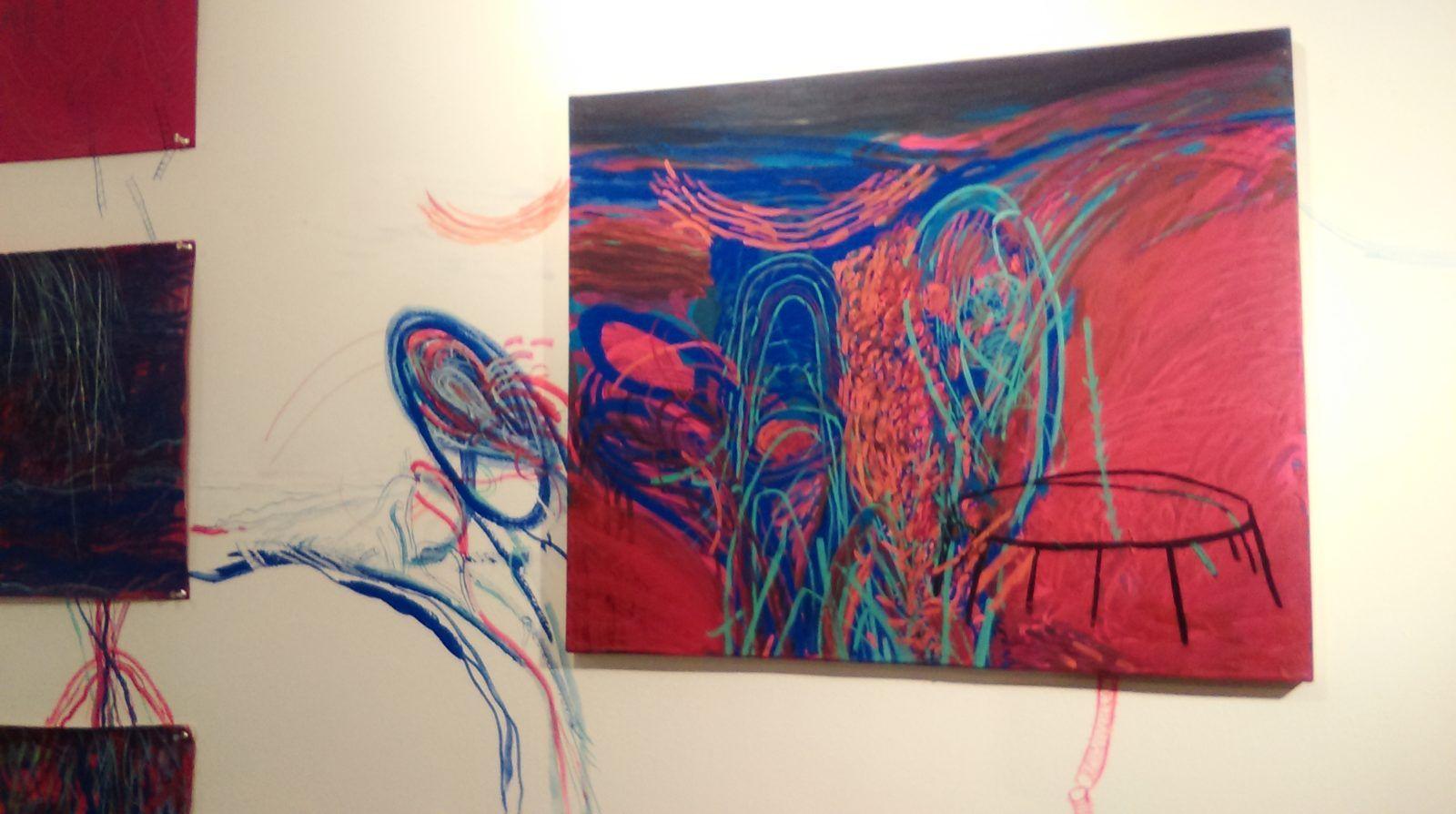 """Detalle de """"Apuntes para un dibujo residual"""" (2016), obra de Luis Noguera"""