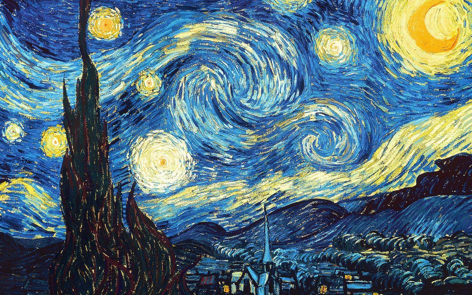 La noche estrellada. 1889. Museo de Arte Moderno de Nueva York.