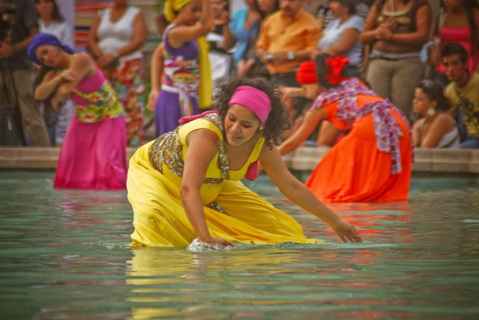 Tatiana Gómez en Tambor de Agua a la Fuente