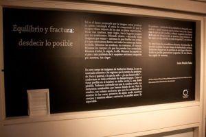 El texto que acompaña la exposición fue escrito por Laura Morales. Foto: Gerardo Rojas