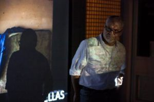Ricardo Jiménez durante la presentación de Huellas. Foto: Gerardo Rojas