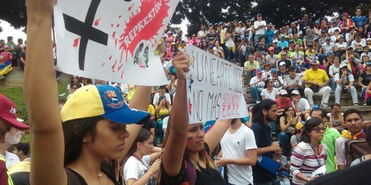 Estudiantes de Uneartes estuvieron presentes en la manifestación