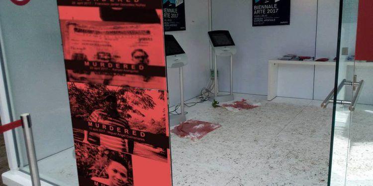 El artista Sergio Rangel Penso llevó la protesta a la Bienal de Venecia