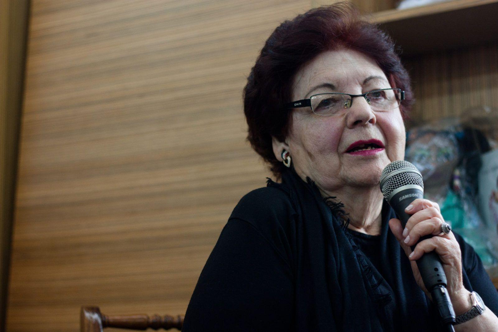 Elisa Lerner en la foto de Gerardo Rojas