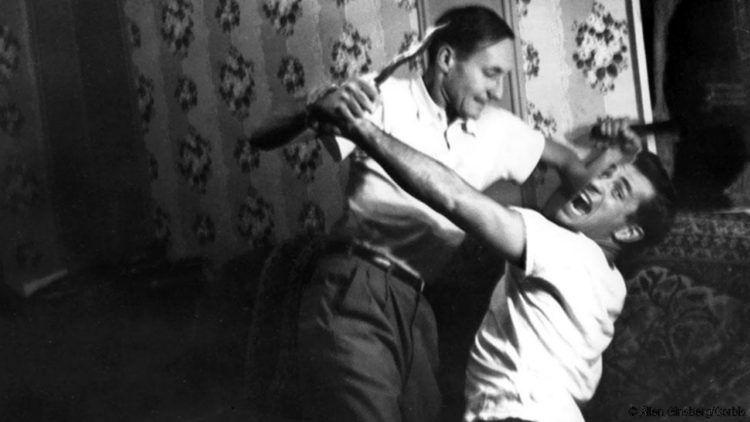 """Kerouac y Burroughs escribieron juntos """"Y los hipopótamos se cocieron en sus tanques"""" © Allen Ginsberg/Corbis"""