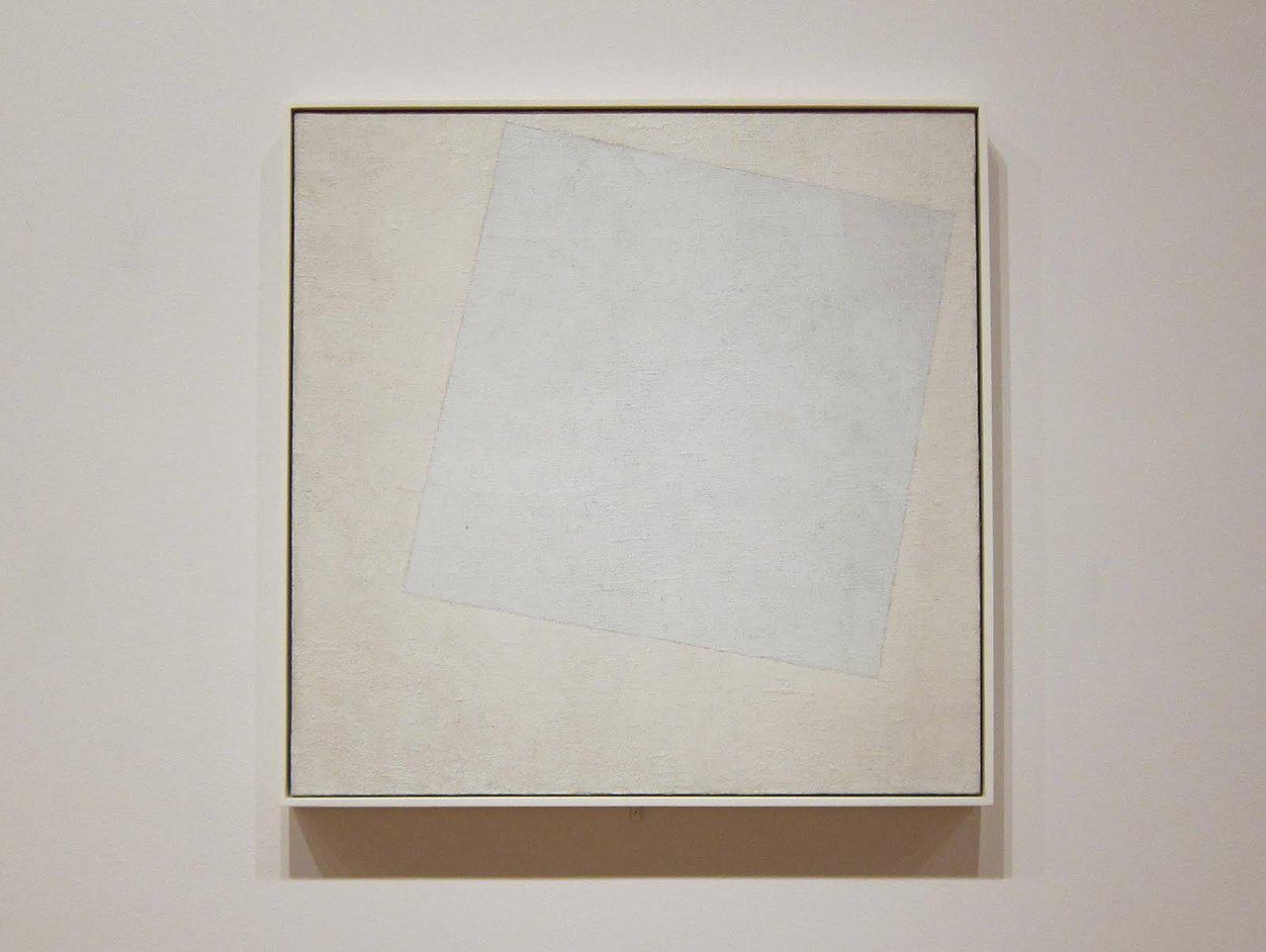 """Blanco sobre blanco"" (1918) de Kazimir Malevich"