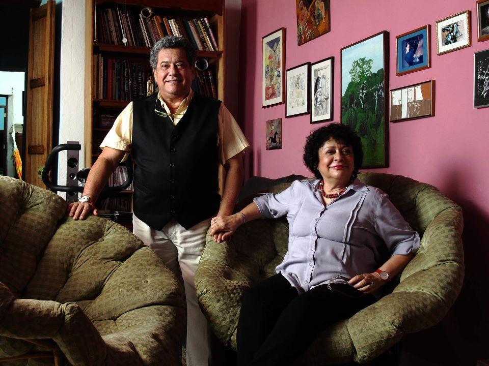 Donald Myerston y Viveca Baíz. Fotografía de Aureliano Alfonzo para ZonaCineCCS