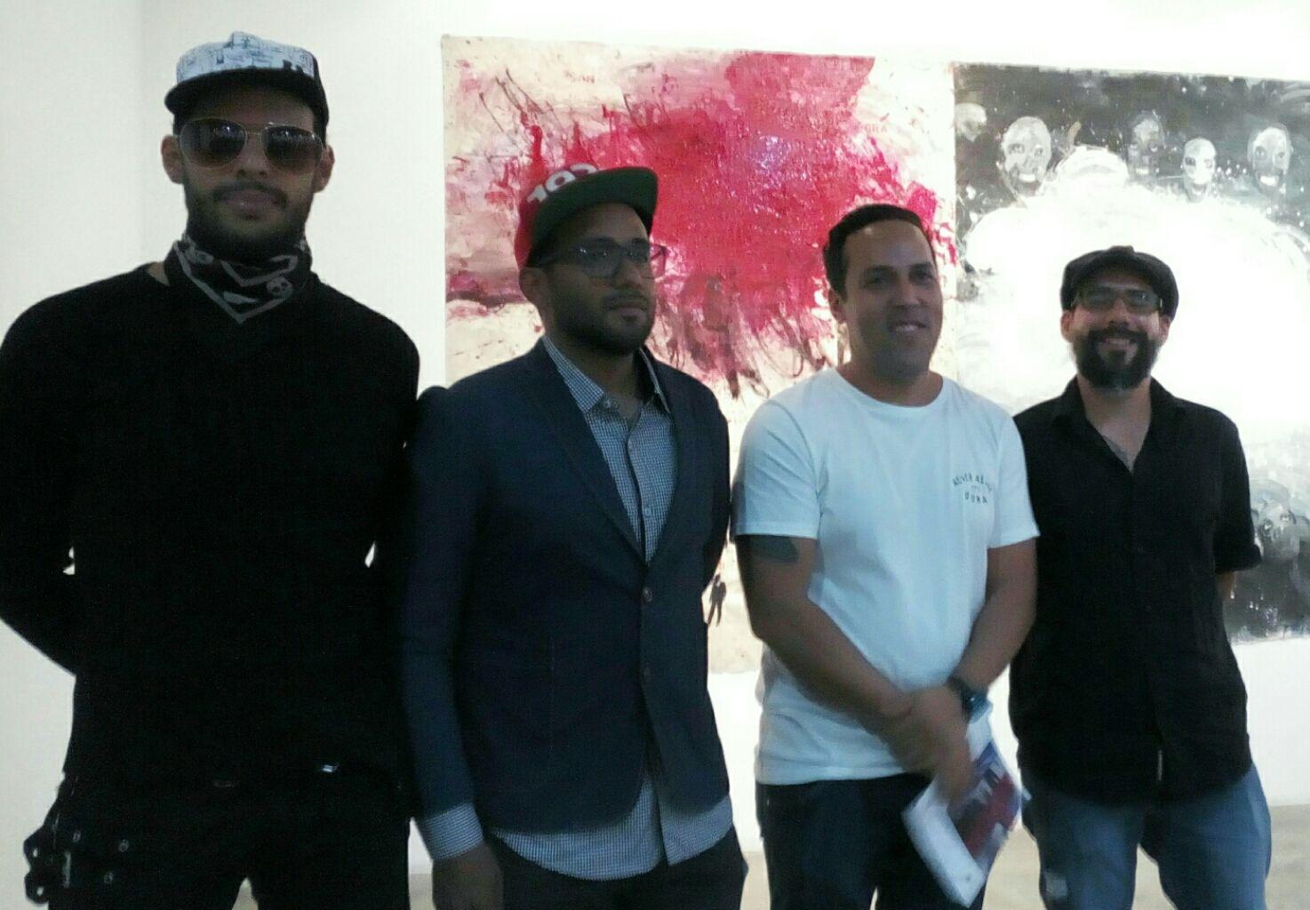 Los artistas Enay Ferrer, Starsky Brines, José Vivenes y Paúl Parrela Foto: Génesis Romero