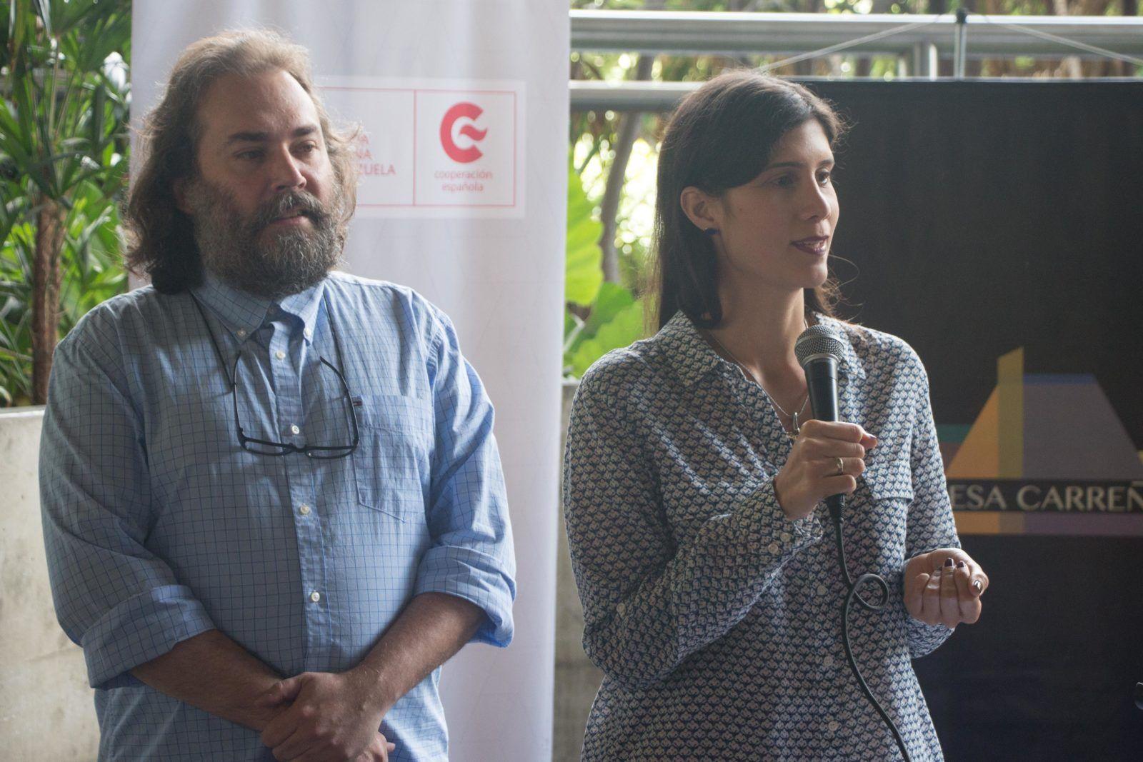 Ana Valentina Quilarte y Goyo Reyna, Directores de la Agrupación Flamenco Venezuela. Foto: Edisson Urguiles